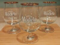 Modelo Negra Cerveza Tall Snifter Gold Rim Beer Glass 40cl Brand New FREE Ship!