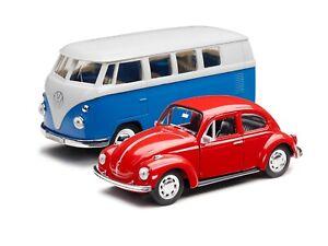 VW Classic Modell SET Bulli T1 Samba blau und Käfer Typ 1 rot NEU *ABVERKAUF*NEU