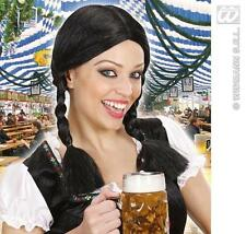 Donna Nero Parrucca i tedesco WAITRESS BAR Maid Heide FANCY DRESS