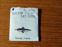 """Teil Uhrenhandel Armbanduhr Ein -achse Pendel Bulova 7¾ -11 """" 7 Ld 10 Bh"""