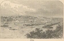 C8008 New York - Albany - Panorama - Stampa antica - 1892 Engraving