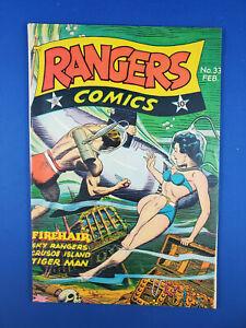 RANGERS COMICS 33 VF FIREHAIR HYPODERMIC PANELS 1947 FICTION HOUSE