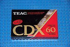 TEAC      CDX   60    BLANK CASSETTE TAPE  (1)     (SEALED)