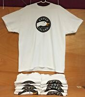 Goose Island Brewing Beer Co White Tee T Shirt - Short Sleeve - Large New & F/S