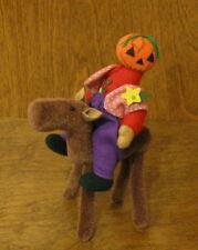 """DEB CANHAM Artist Designs PUMPKIN HEAD & THE SAWHORSE, Halloween Coll. 4"""" LE"""