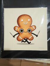 MIKE MITCHELL Dirk Gingerbread Man Print Art S/N OOP Food Dudes