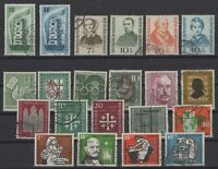 CB145688/ GERMANY – YEARS 1955 - 1957 USED SEMI MODERN LOT – CV 140 $