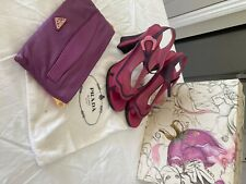 Vintage prada shoes with matching prada bag