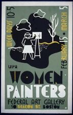 Women Painters | Federal Art Galary | Vintage Poster | A1, A2, A3