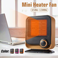 650W-1300W Portable Mini Electric Heater Fan Air Warmer For Office Home Bathroom
