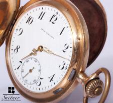 Taschenuhr Union Horlogére 585 Gold ca 1900 Savonette 3 Deckel Pocketwatch