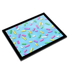 A3 Glass Frame - Blue Donut Sprinkles Doughnut Treats Art Gift #16709