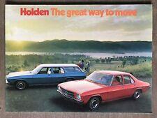 1974 Holden Range. The great way to move original Australian sales brochure