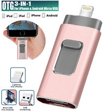 512GB External Storage Devices For iPhone Micro Android USB Memory Backup Stick