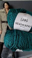 50 g SILKMERINO Lang Garn Yarns Fb. 888.0074 PETROL Blau Grün SEIDE MERINO FINE
