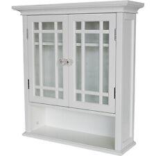 WALL KITCHEN CABINET Cupboard Bathroom Hanging Shelf Over The Sink Storage White