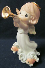 Nib Precious Moments Figurine # 116712_Praise Him With the Sound of The Trumpet