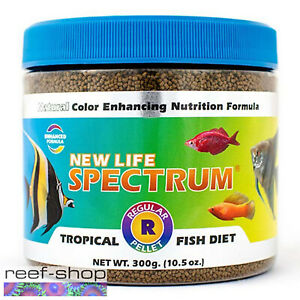 New Life Spectrum TROPICAL FISH Regular Pellet 300g Fish Food Free USA Shipping