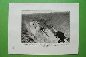 RWc) Arras 1914-1918 Verschüttung englischer Tank Frankreich (1926) 1.WK WWI