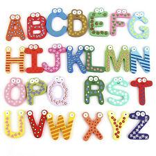 26pcs alfabetos Letras magnéticas de madera imán de los imanes para niños