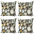 Ambesonne Antique Vintage Cushion Cover Set of 4 for Couch and Bed in 4 Sizes