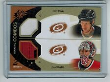 2010-11 SPX ERIC STAAL CAM WARD JERSEY & 2-COLOR JERSEY SWATCH COMBO HURRICANES
