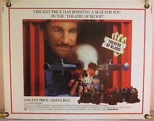 THEATRE OF BLOOD ROLLED ORIG HALF-SHEET MOVIE POSTER VINCENT PRICE HORROR (1973)
