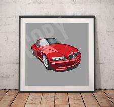 Classic BMW Z3 print - 30cm x 30cm - Heavy Weight 300gms Paper