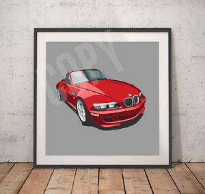 Classic BMW Z3 print - Various print sizes on request