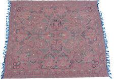 19th siècle antique Cachemire Paisley Châle Écharpe 140x167 cm L60