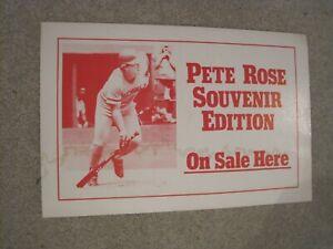 PETE ROSE  Newspaper Rack Sign Cincinnati Enquirer 1985 Reds