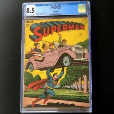 Superman #19 (DC Comics 1942) 🔥 CGC 8.5 VF+ 🔥 Rare Golden Age Comic