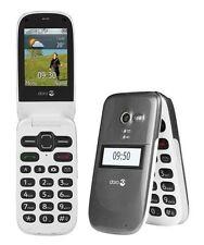DORO 624 Nuevo Desbloqueado Teléfono Móvil Negro + Base de Carga + Todos Los Accesorios