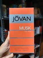 New Jovan Musk Aftershave Cologne 8.0 fl.oz for men.