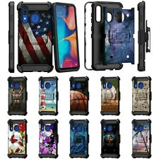 For Samsung Galaxy A20 / A30 / A50 Full Body Armor Rugged Holster Belt Clip Case