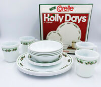 Vtg 1985 Corelle NOS Sealed Dinnerware Holly Days by Corning 16-Piece Set