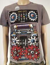 Minute Mirth Shirt.neu.Trash Robot Tin Toy Comic Art Vintage Design Streetwear