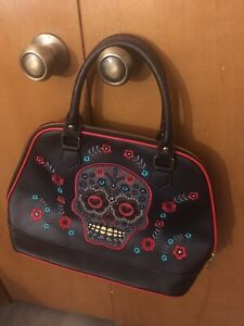 BANNED Sugar Skull Day of the Dead Gothic PURSE-Never Used