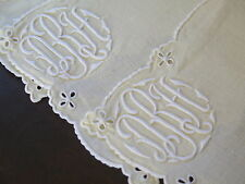 Vtg Madeira Linen Cocktail Napkins Hand Embroidered Monogram D R H Yellow Set 8