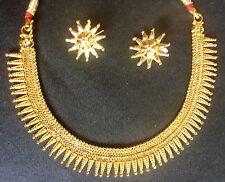 Maharashtrian Surya Haar 22K Gold Plated Neckalce earrings Jewellery Bridal Set