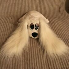 1995 Galoob Pound Puppy Puppies Dog Plush White Fuzzy Ears Brush 'N Style Pup