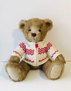 """Harrods 2011 Freddie Bear with Christmas Jumper - Large 13"""" INCH HIGH"""