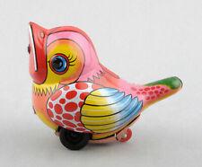 Noguchi (Japan) Tinplate Friction Drive Baby Bird/Chick (Pink)
