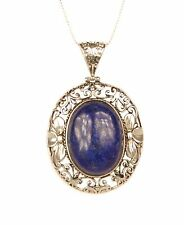 CONMIGO NS10100 LAPIS Gemstone Ciondolo Con Collana Catena Mesh 3mm