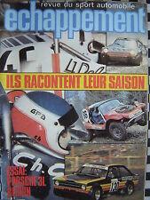 revue ECHAPPEMENT 1980 PORSCHE 911 SC GR.4 / BANDAMA / PANCIATICI / J.P LUC