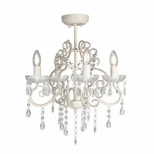 Glass Crystal Chandelier VIENNA 4 Light Shabby French Provincial Ceiling Lamp
