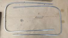 1940 Chevy WINDSHIELD REVEAL TRIM MOULDINGS Original GM Stainless pair outside