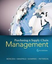Purchasing and Supply Chain Management (US HARDCOVER 6/E; ISBN-13:9781285869681)