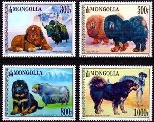 Mongolia 2015 Fauna, Dogs, Yaks MNH**