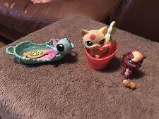 LPS Littlest Pet Shop Postcard Pets 3 Set #1231 1232 1233 Cat Squirrel Butterfly